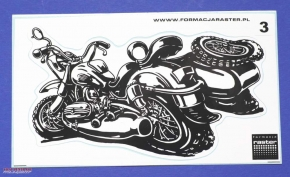 Ural caricature sticker black