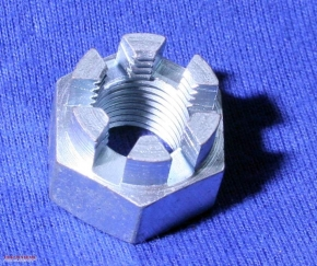 Castellated nut M12 x 1,25 fine pitch thread