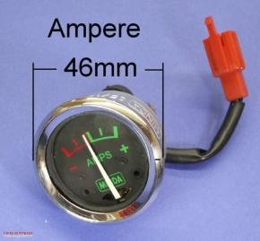 Amperemeter schwarz 42mm Loch