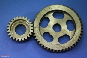Timing gear set for CJ models with 12V