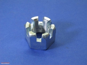 Crown-Nut M20 fine pitch thread, zinc-coated