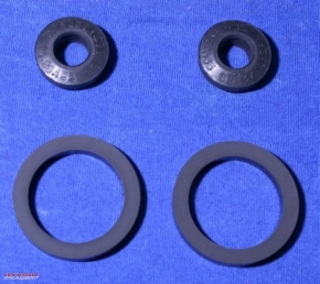 Shock absorber gasket set for 2 absorbers