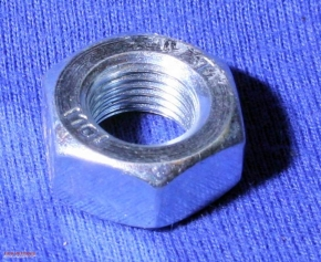 Nut M10 fine pitch thread, zinc-coated