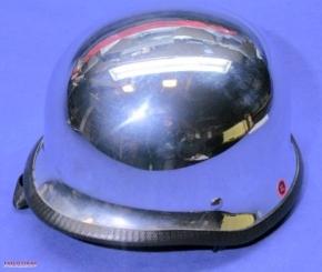 Steel helmet L, chrome-plated