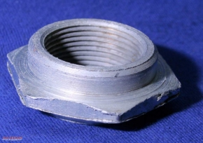 Steering head bearing nut