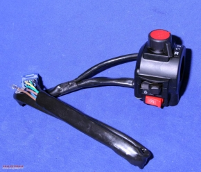 Handlebar switch, right side, black