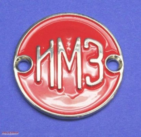 Fuel tank emblem IMZ chrome / red