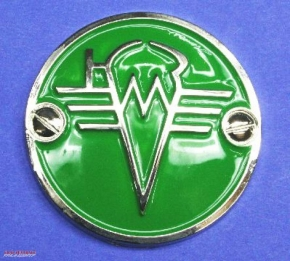 Fuel tank emblem KMZ chrome / green
