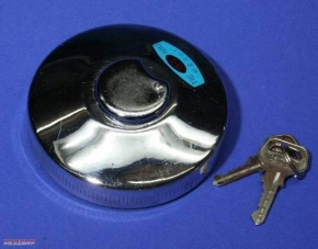 Fuel tank cap, chrome-plated, lockable