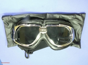 Aviator goggles with leather cushion