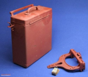Ammunition box with bracket