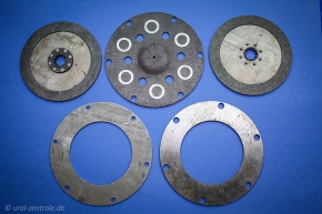 Clutch disc set Dnepr for electric starter