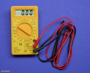 Multimeter with acoustic signal