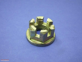 Crown nut with collar M14 x 1.5 fine pitch