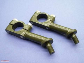 Handlebar brackets green, 1 pair