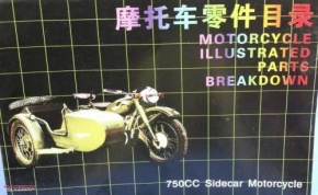 Chinese CJ spare part list for side valve bikes in english langu