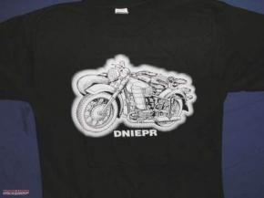 T-Shirt schwarz Dnepr, Größe L