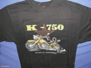 T-shirt K 750 black BUSS, size XL