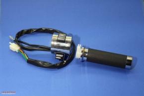 Gasgriff mit Lenkerarmatur für E-Starter