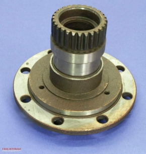 Driven flange, cone gear mounting