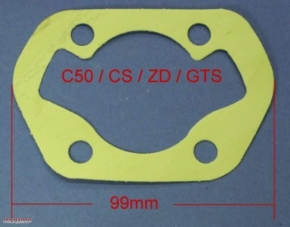 Cylinder base gasket for Zündapp C / ZD / GTS /KS 50 models
