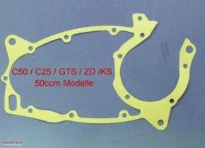 Crankcase gasket Zündapp C, CS, ZD, GTS 50cc